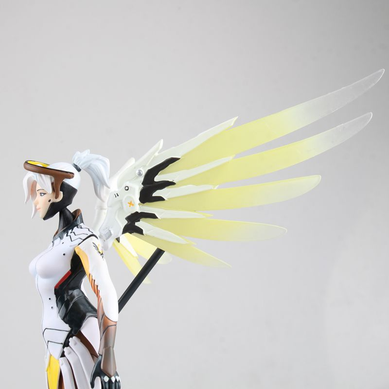 Hasbro Overwatch Angela Ziegler Mercy Action Figures Model Toy with Accessories  Blizzard Video Game Characters 4