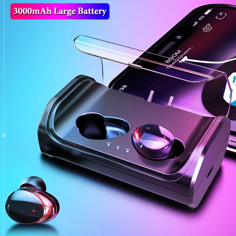 TWS T8 True Wireless Earbuds Touch Control Bluetooth 5.0 Earphone IPX6 Waterproof Stereo CVC8.0 Noise Cancelling Headphones