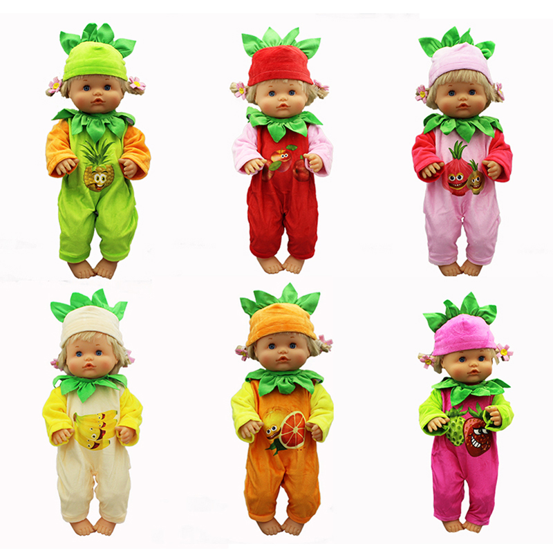 Fruit Design Doll Clothes Fit 42cm Nenuco Doll Nenuco Su Hermanita Doll Accessories