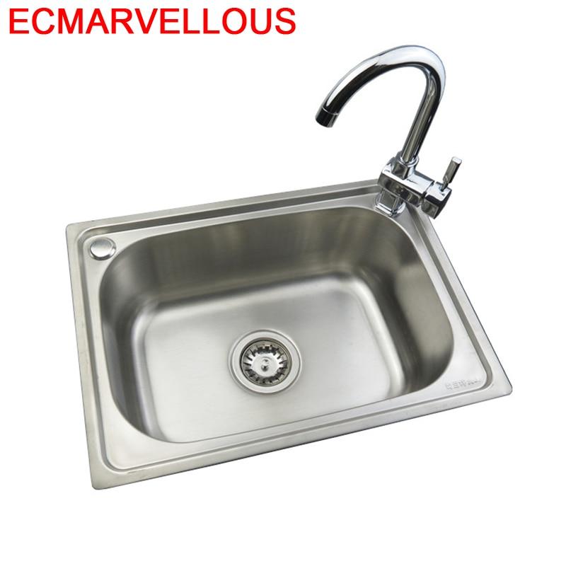 Faucet Lava Manos Tarjas Integral Acero Inoxidable Escurridor Para De Cocina Cuba Pia Cozinha Lavabo Fregadero Kitchen Sink