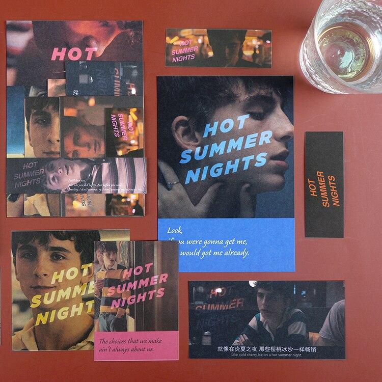 15 peças/pacote, filme romântico inglês scrapbook adesivos, diy álbum decoração, diy diário livro adesivos, scrapbook adesivos