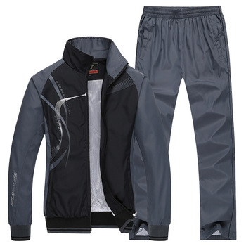 Men's Sportswear Set Spring Autumn Print Tracksuit Men 2 Piece Sets Jacket+Pant Sweatsuit Casual Sporting Outerwear Clothing 3