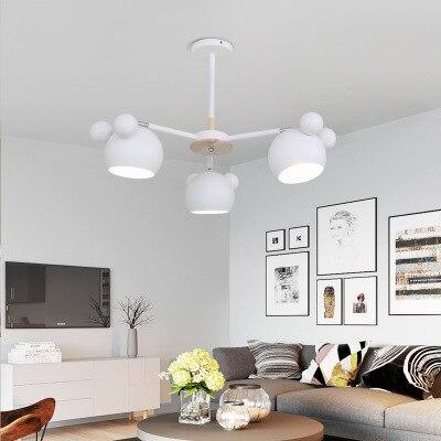 Children's Chandelier Wood Children Hang Wall Lamp Nordic Modern Minimalist Fashion Creative Solid Corridor Bedroom