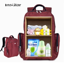 Multi-function Mummy Bag Backpack Large Capacity Maternity Diaper Bag Baby Stroller Travel Nappy Hanging Carriage for Kid Bottle