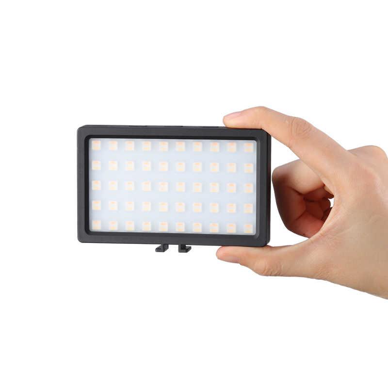CL-120C 3200K-5600K MINI Vlog LED ชุดขาตั้งกล้อง CRI 95 หรี่แสงได้ RGB ที่มีสีสันเติมแสงแสงการถ่ายภาพ