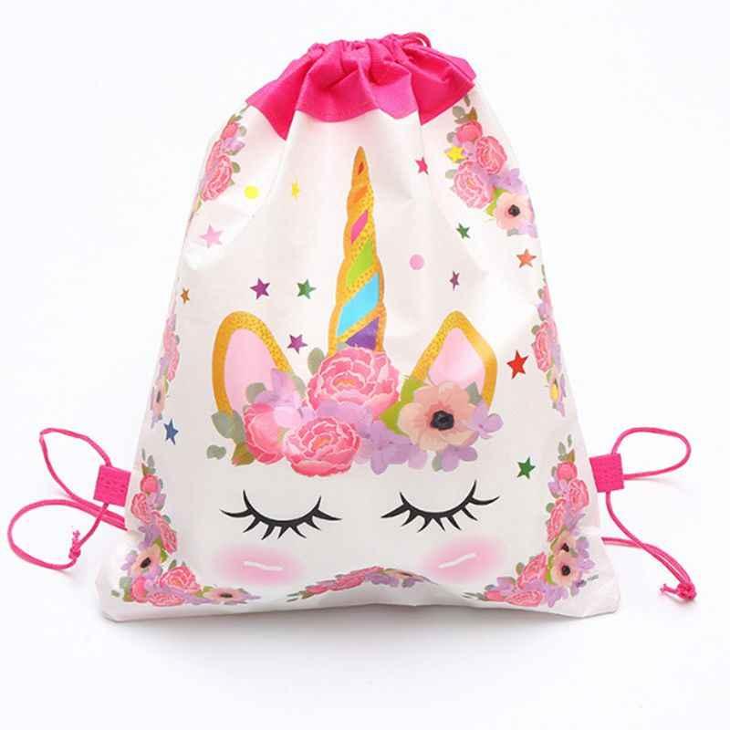 1PC hurtownia motyw jednorożca prezent torba dekoracje świąteczne dla dzieci z okazji urodzin wesele impreza zaopatrzenie firm dla dzieci