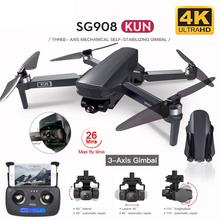 2021 nowy SG908 dron GPS z 4K kamera HD 3-osiowy Gimbal WiFi FPV profesjonalny składany Quadcopter odległość 1 2km #8217 s postawy polityczne w SG906 MAX tanie tanio SHAREFUNBAY CN (pochodzenie) 1200M 4K UHD Mode2 4 kanały 7-12y 12 + y 18 + Oryginalne pudełko Z tworzywa sztucznego 4*1 5AA