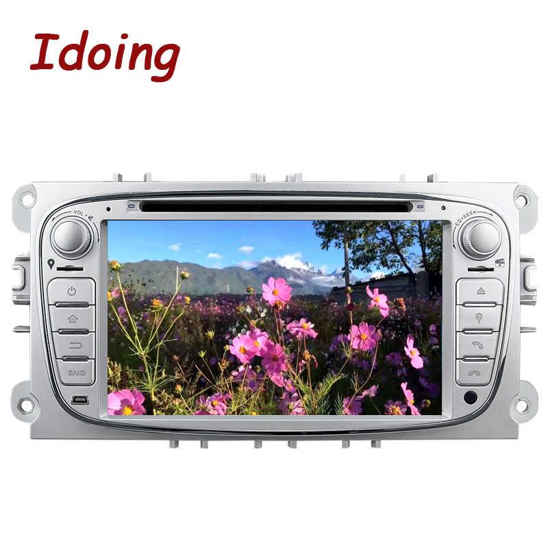Idoing Volante 2Din Android7.1 Car Dvd Multimedia Video Player per Ford Focus Mondeo S-Max di Navigazione Gps touch Screen Tv