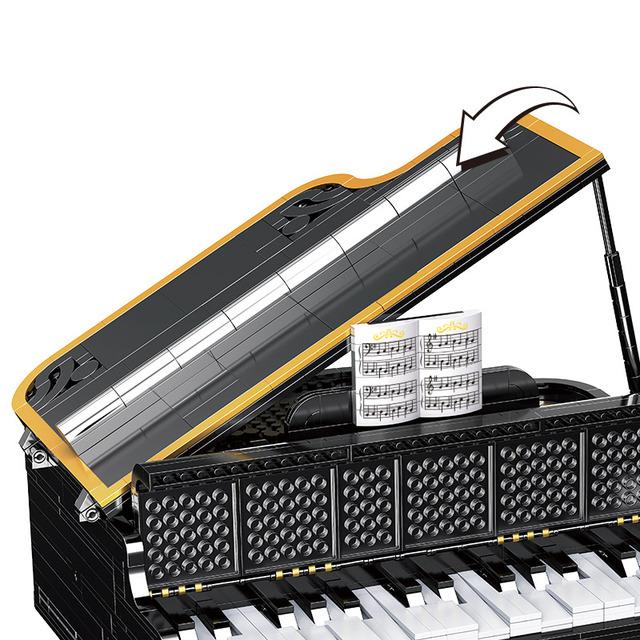 APP Bluetooth Control Suitable Speaker Bricks for  Technic Electric Creator PIANO Building Block Toys For Children Girls