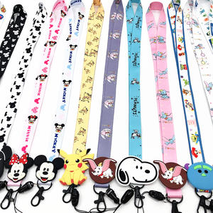 Cute Cartoon keychain lanyards Neck straps Lanyard for keys ID Card Pass Gym USB Phone lanyard DIY Hang Rope Sling