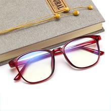 Retro Mens Glasses Frame Fashion Computer Eyeglasses Frame Women Anti-blue Light Transparent Clear Pink Plastic Frame