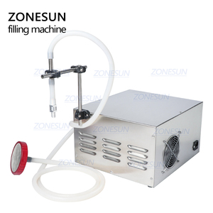Image 4 - ZONESUN GZ GFK17A חצי אוטומטי מילוי מכונת כביסה בישול שמן מים מיץ אלכוהול חלב נוזלי בקבוק מילוי מכונה