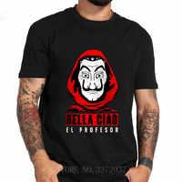 Di modo La Casa de Papel professor t-shirt Creativo degli uomini di disegno harajuku hip hop t shirt Casa di Carta Tshirt camisetas