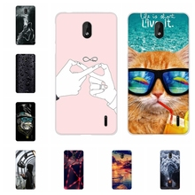 For Nokia 1 Plus Back Cover Ultra Slim Soft TPU Silicone Case Flowers Patterned Shell Bumper