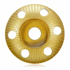 Image 3 - 110mm madeira moldar disco redondo escultura disco com furo 22mm furo roda moedor de lixar para 115 125 ângulo moedor novo
