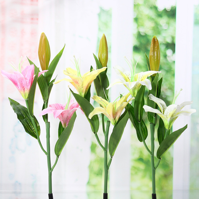 2 Head Lily Flower Solar Light LED Decorative Outdoor Lawn
