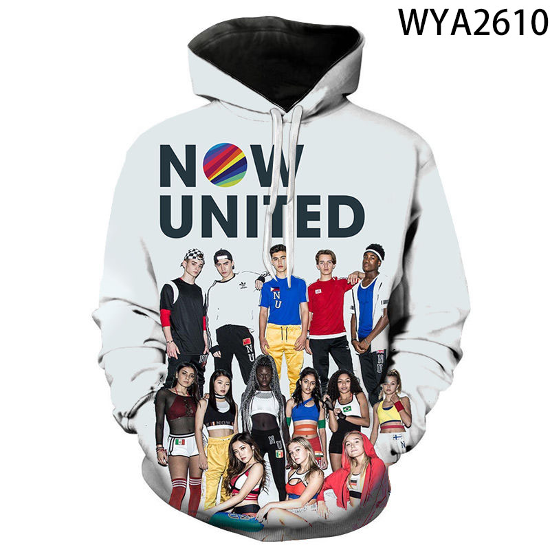 Singer Now United 3D Printed Hoodies Men Women Children Fashion Sweatshirt Clothes Boy Girl Pullover Long Sleeve Streetwear Tops
