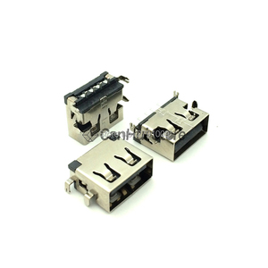 10PCS Connector 2.0 USB sink a mother bedroom 10.0 short body patch sink 1.9 flat female seat 11.0