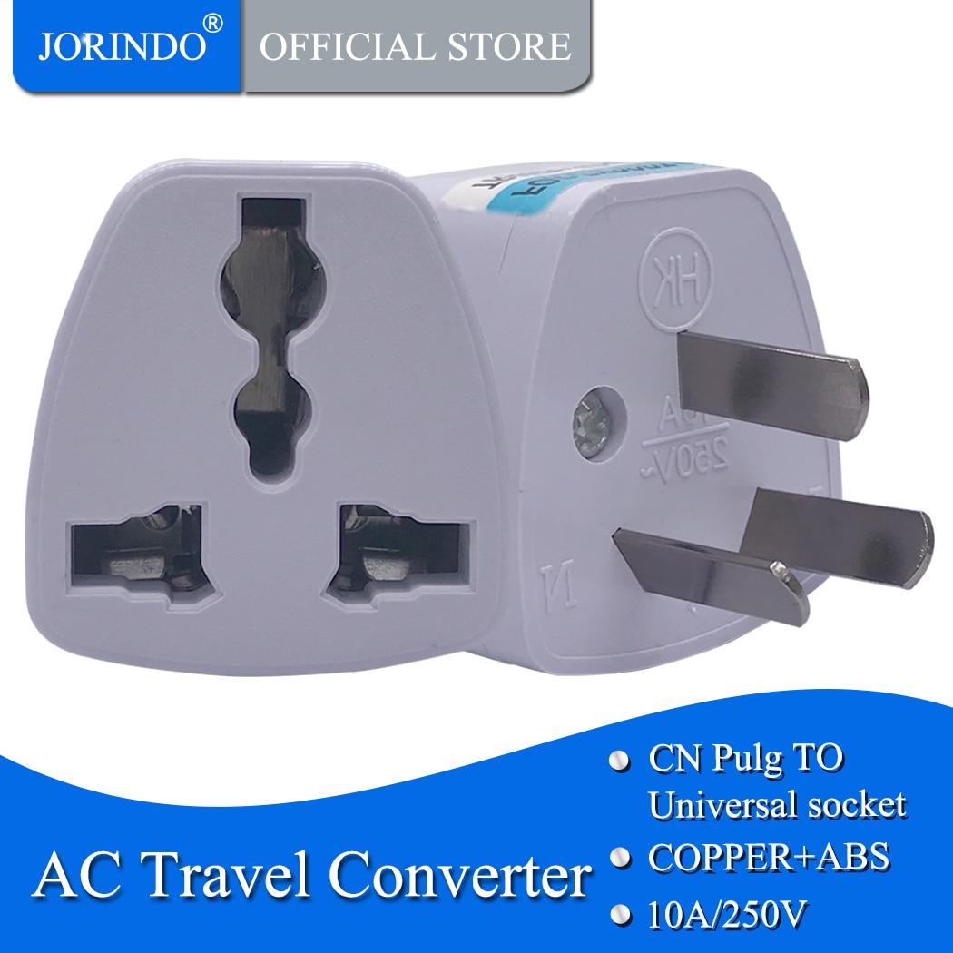 JORINDO Австралийский Стандартный дорожный адаптер для преобразования адаптера питания ЕС, США, Великобритании в Австралии, 10A250V