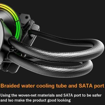 Darkflash-carcasa de PC, Enfriador de agua líquida, AIO, ventilador de enfriamiento PWM RGB, sincronización de agua, CPU para LGA 2011/115X/2066/AM4/AM3 + 4