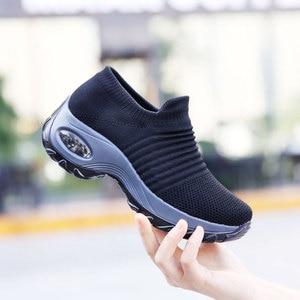 Image 3 - MWY Appartamenti Delle Donne È Aumentato Calzini e Calzettoni Sneakers chaussures femmes Delle Donne Scarpe Comfort Traspirante Allaperto Casual Scarpe Da Passeggio