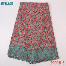 Французский вуаль кружева в швейцарском, новейшее в нигерийском стиле Французский кружевной ткани, африканский вышитые сухое кружево KS2901B-3