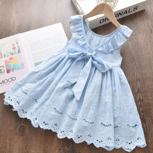 Girl Dress Summer Cotton Children Clothing Sleeveless Toddler Princess Kids Dresses for Girls Clothes Embroidery Vestido 2019 kids girl sleeveless dress summer girls prined flower dresses children clothes baby cotton princess dress outfits