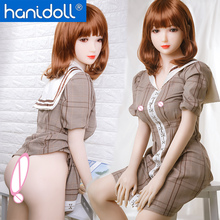 Hanidoll Japanese Silicone Sex Dolls 158cm Real Sex Doll Fetish Men TPE Love Doll Realistic Ass Vagina Breast Sex Toy for Men japanese real skin masturbation sex dolls full size silicone false feet foot fetish sex toy