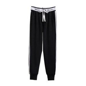 Image 2 - 2019 jesień zima plus rozmiar spodnie sportowe dla kobiet duże grube aksamitne wełny dorywczo luźne ciepłe długie 3XL 4XL 5XL 6XL 7XL