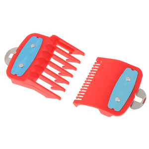 Image 5 - 2Ppcs(1.5mm+4.5mm) Guide Comb Sets 1.5 And 4.5 Mm Size Red Color Attachment Comb Set For Professional Clipper random