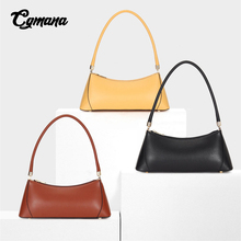 Genuine Leather Handbag Designer Women Tote Bag Vintage Office Lady Shoulder Female Casual Ins Bolsa 2019