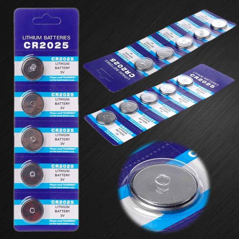 10 قطعة بطارية ليثيوم CR2025 3 فولت خلية عملة بطاريات CR 2025 مفتاح السيارة زر ساعة الكمبيوتر لعبة الإلكترونية Re