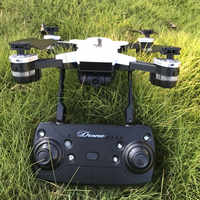 Mini Drone de Selfie d'air pliable RC quadrirotor RTF avec YH-19 de caméra 720p tenue d'attitude 2.4G avec bras pliable cadeau de Drone RC