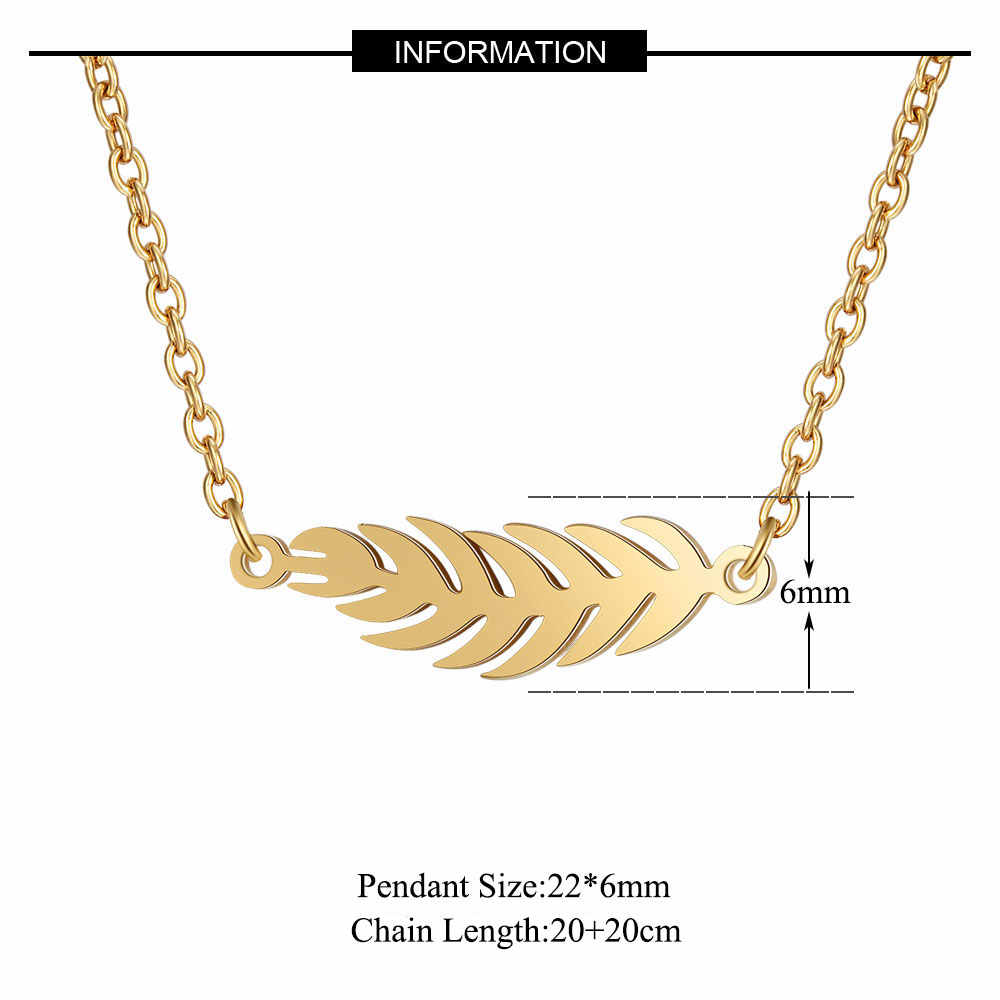 AAAA Quality 100% Stainless Steel Leaf Necklace for Women Never Tarnish Jewelry Necklace Super Fashion Charm Jewelry High Polish
