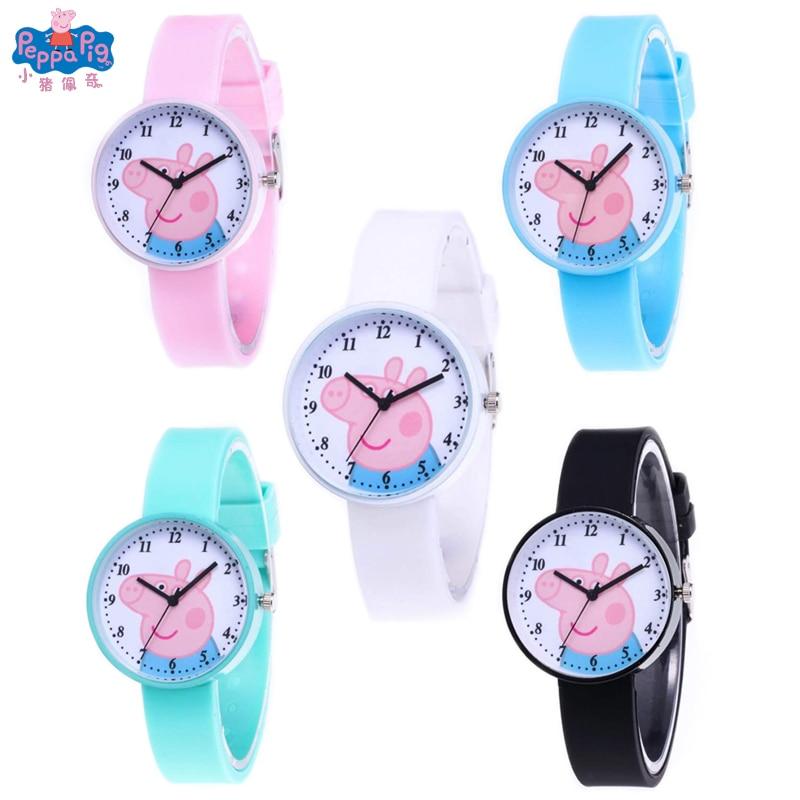 Peppa Pig Cartoon Boy Girl Casual Watches Digital Clock Silicone Wrist Watch Clock Hodinky Best Christmas Gift For Children