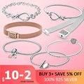 Women Bracelet 2021 New 925 Sterling Silver snake chain Women Silver Bracelet Heart Bangle for Women Sterling Silver Jewelry