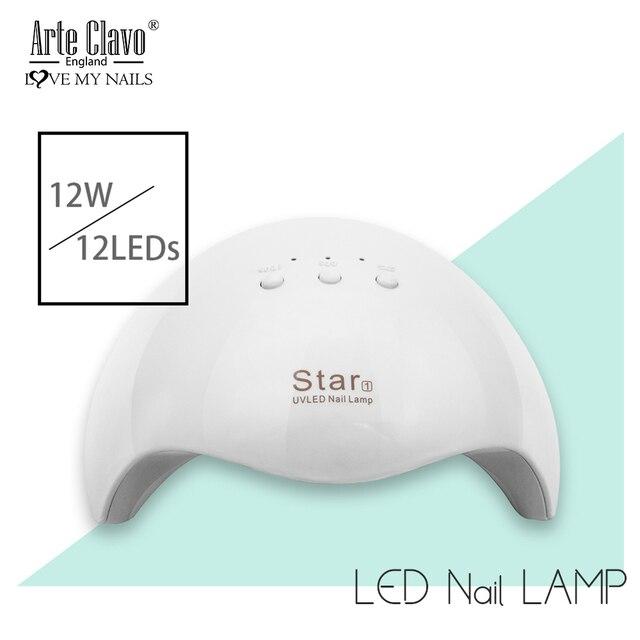 Arte Clavo 24W UV Gel lampe sèche-ongles Machine à lampe à LED 30 s/60 s ongles conception Art outils sécher rapidement sèche lampe pour vernis à ongles