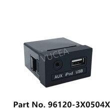 961203X050 oryginalne Audio AUX gniazdo USB assy dla Hyundai Elantra MD 2011 2015 96120 3X0504X 96120 3X050