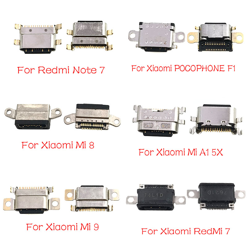 Micro USB Connector Socket Jack For Xiaomi Mi A1 A2 8 9 CC9E Max3 Mix 3 Redmi Note 7 Pro Type C USB Connector