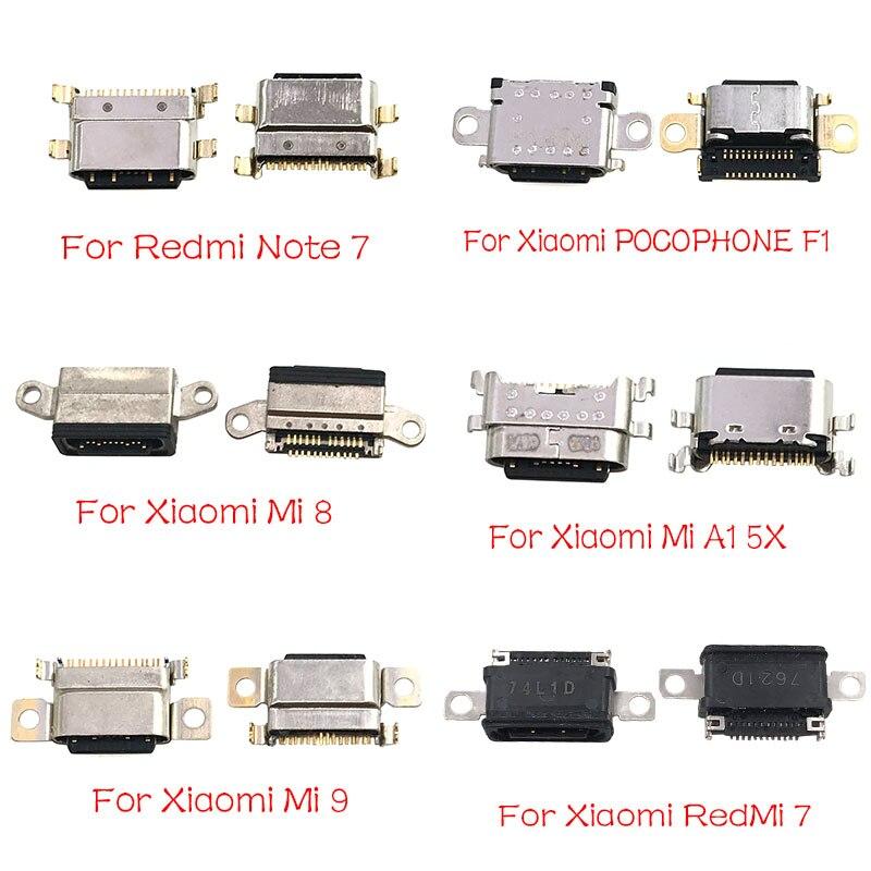 Micro USB Connector Socket Jack For Xiaomi Mi A1 A2 8 9 CC9E Max3 Mix 3 Redmi Note 7 Pro Type C USB Connector