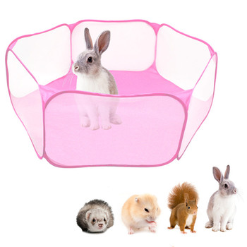 Pet Playpen Portable Pop Open Indoor / Outdoor Small Animal Cage Game Playground Fence for Hamster Chinchillas Guinea Pigs 1