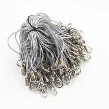 100pcs Lanyard Lariat Strap Cords Lobster Clasp Rope Keychains Hooks Mobile Set Charms Keyring Bag Accessories Key Ring