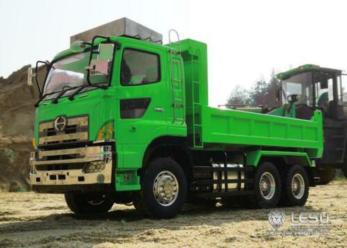 LESU RC 6*6 Hydraulic Lifting 1/14 Dumper Truck Gearbox DIY 1/14 Tmy Model