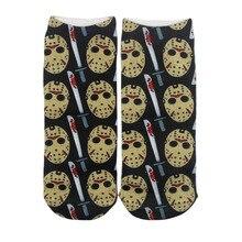 K480 1 Pairs Black Friday Casual  Invisible Summer Socks Short Low Cut No Show Socks Cotton Funny Happy Boat Socks Unisex