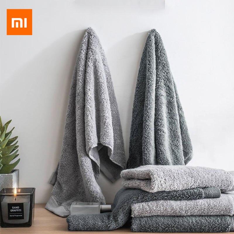 Xiaomi como vivendo preto tecnologia prata íon antibacteriano fibra toalha macia e confortável 32x76cm absorvente e durável