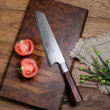 LUOKESI 8 inch Damascus steel chef knife Western-style kitchen slicing knife household fruit chopper fish fillet knife