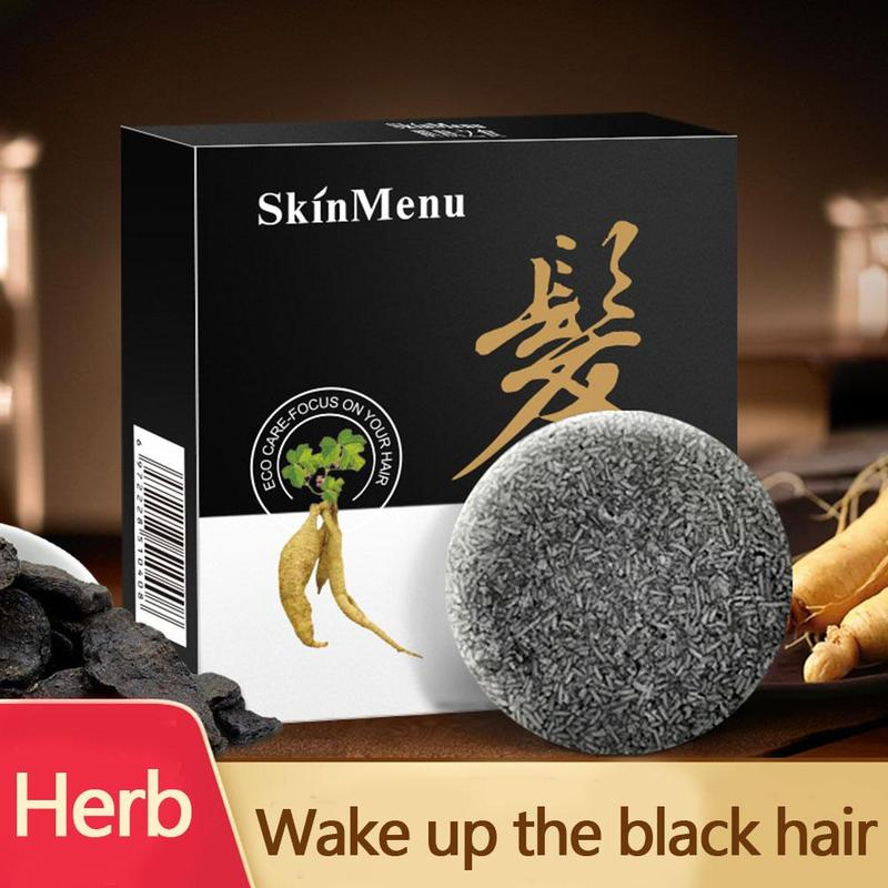 Shampoo Soothing Oil Control Antidandruff Black Sesame Black Brightness Care Soothes Scalp Cleansing Mite Soap