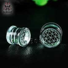 Kubooz piercing de pedra dos sonhos, brincos expansores, presente moderno para mulheres e homens, 6mm a 16mm par de vendas