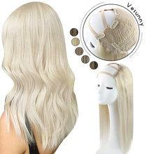 Vesunny u part парики Половина Парики remy человеческие волосы