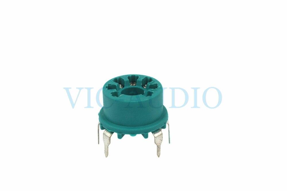 DIY Amplifier PCB Board 10PCS 7Pins Electronic Tube Socket For 6J1 6X4 6AQ5 6J5 6Z4 6A2 Vacuum Tube Plastic Socket Free Shipping
